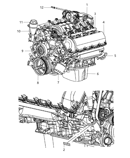 engine assembly & identification - 2007 dodge dakota  mopar parts giant