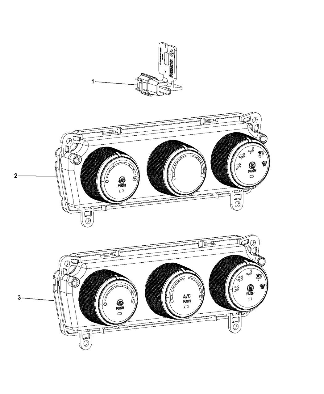 2014 ram promaster 1500 a  c  u0026 heater controls