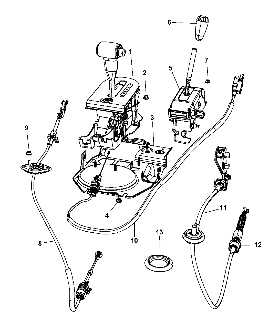 2008 Jeep Wrangler Gear Shift Control Mopar Parts Giant 2006 Unlimited Rubicon Wiring Diagram Thumbnail 1