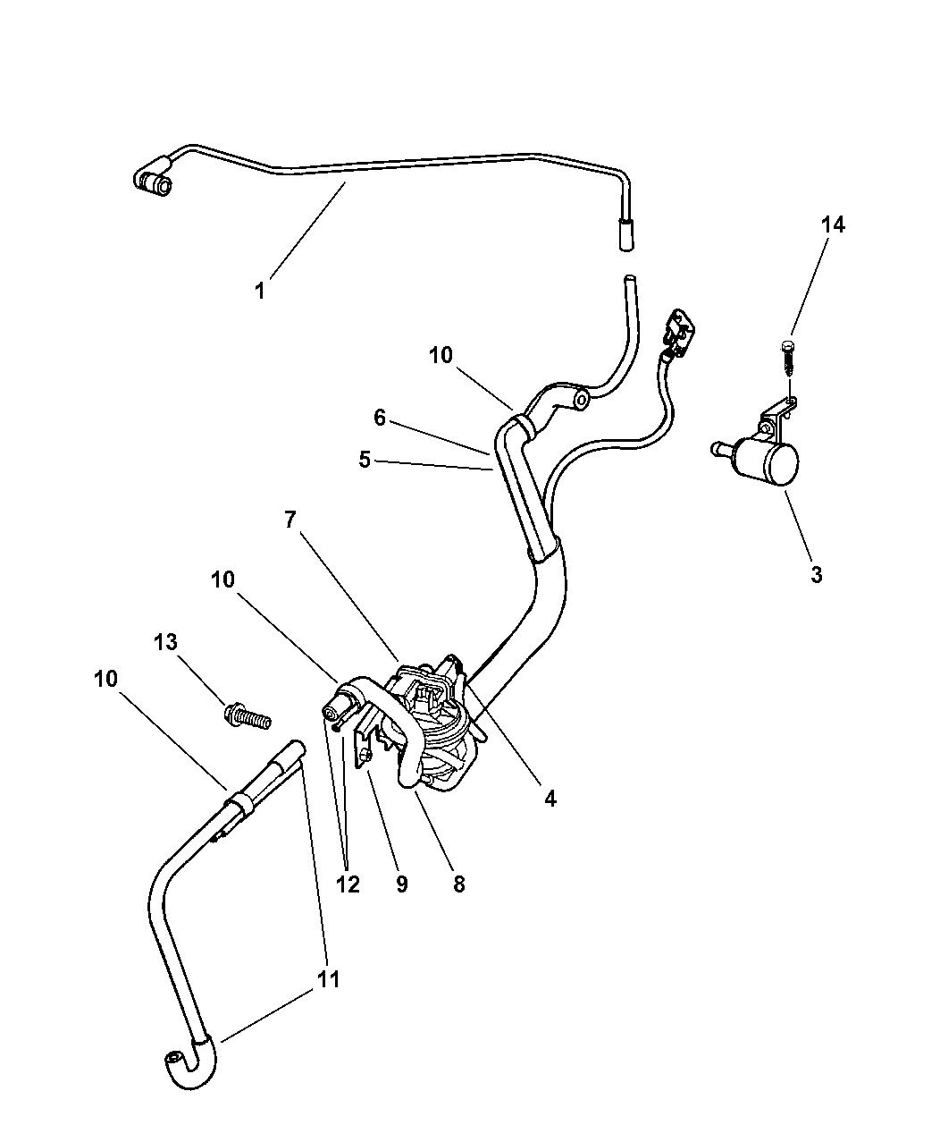 2000 chrysler town & country leak detection pump
