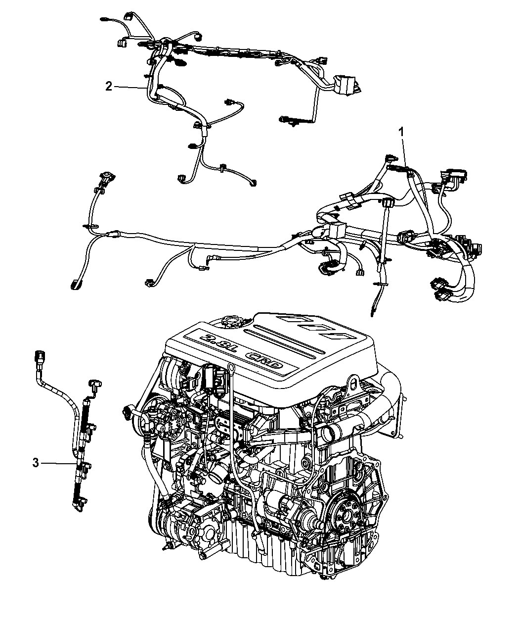 2013 Chrysler Town Country Wiring Engine Mopar Parts Giant