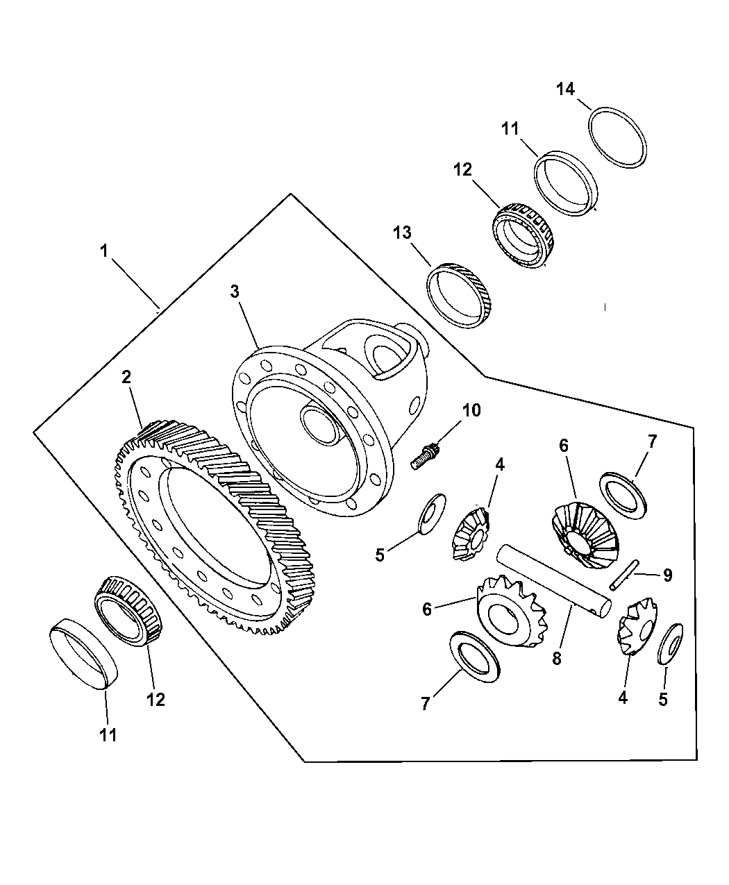 2001 chrysler pt cruiser differential