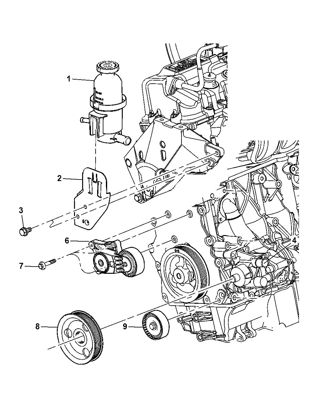 2007 Chrysler PT Cruiser Pump Assembly & Mounting - Thumbnail 1