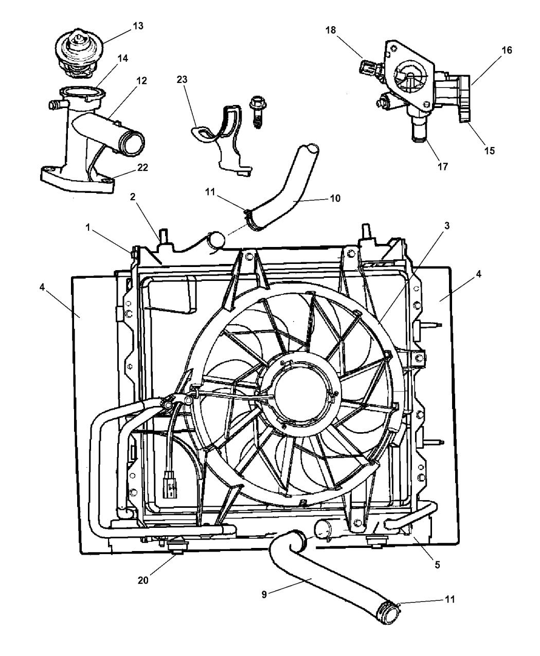 pt cruiser 2 4l engine parts diagram wiring library PT Cruiser Timing Chain 2007 chrysler pt cruiser radiator \u0026 related parts