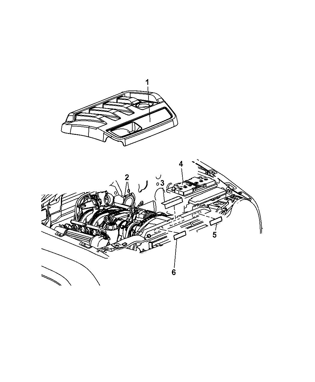 2012 Jeep Patriot Engine Compartment Mopar Parts Giant Diagram Of