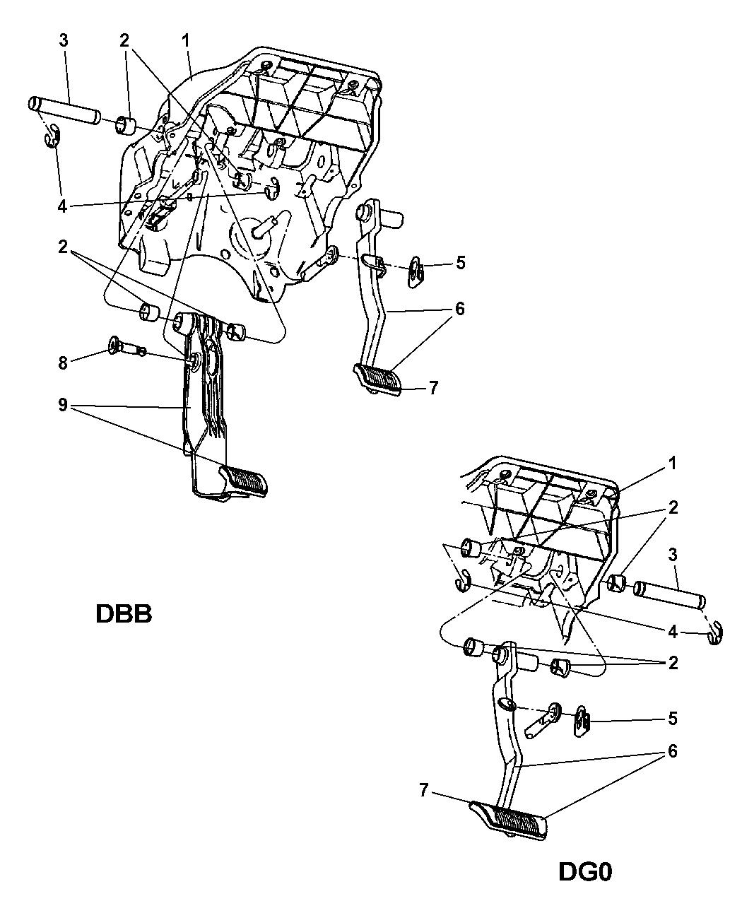 2004 Dodge Ram 1500 Brake Pedal of Service Brakes