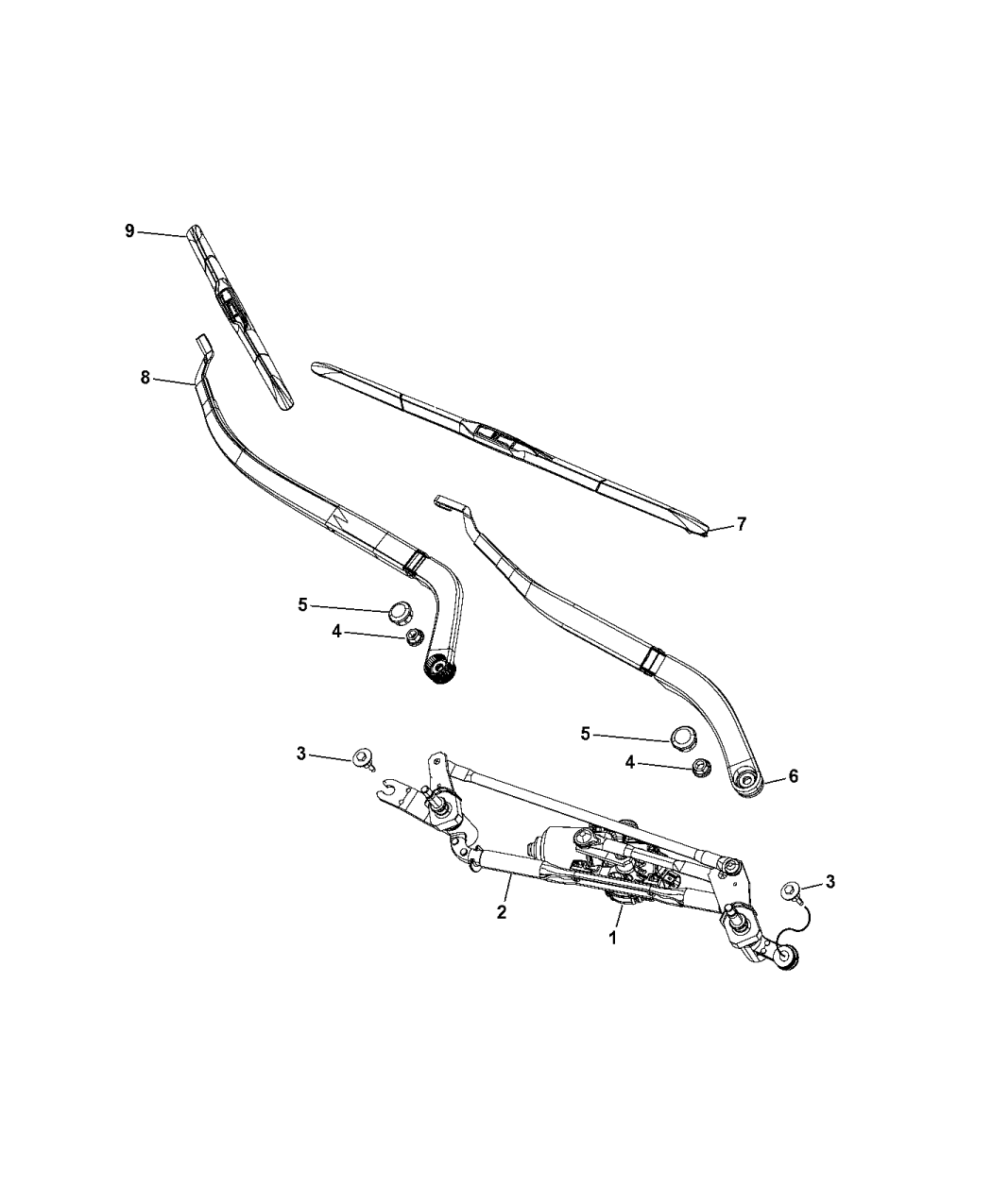 2016 Jeep Cherokee Front Wiper System