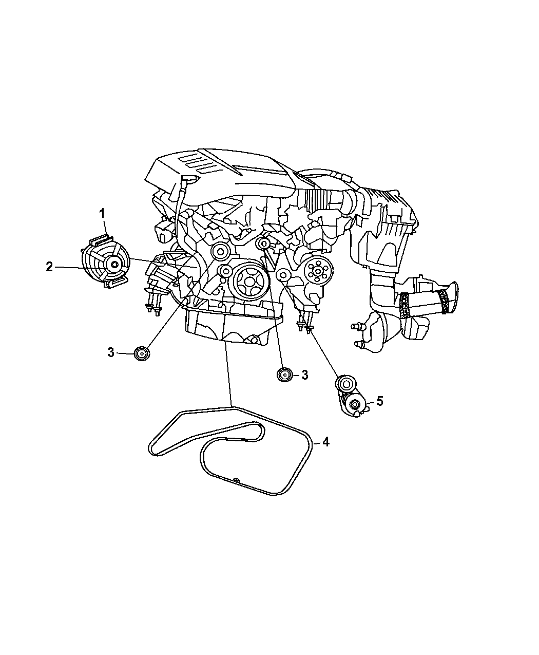 4801250ac Genuine Mopar Alternatr Engine
