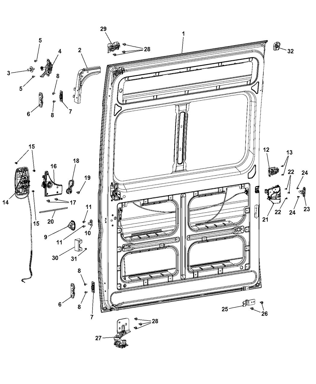 2014 Ram Promaster 2500 Sliding Door Assembly Mopar Parts Giant