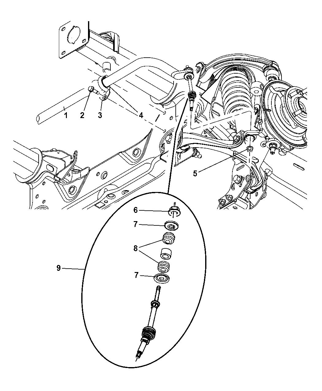 dodge dakota front suspension diagram
