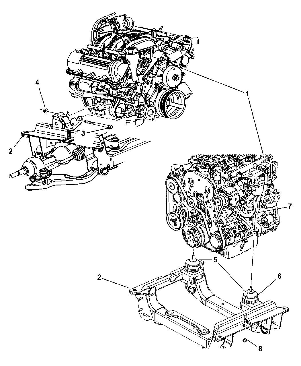 Genuine Chrysler 52129011AC Engine Mount Insulator