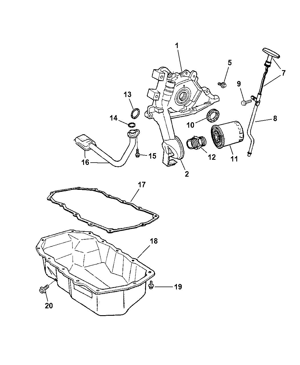 2005 Jeep Wrangler Engine Oiling