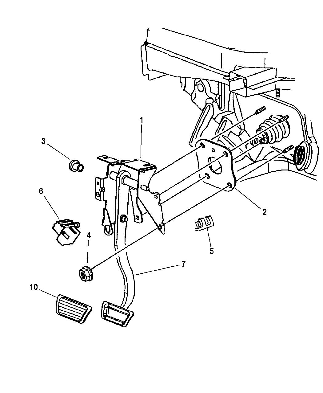 2000 chrysler concorde pedal  brake