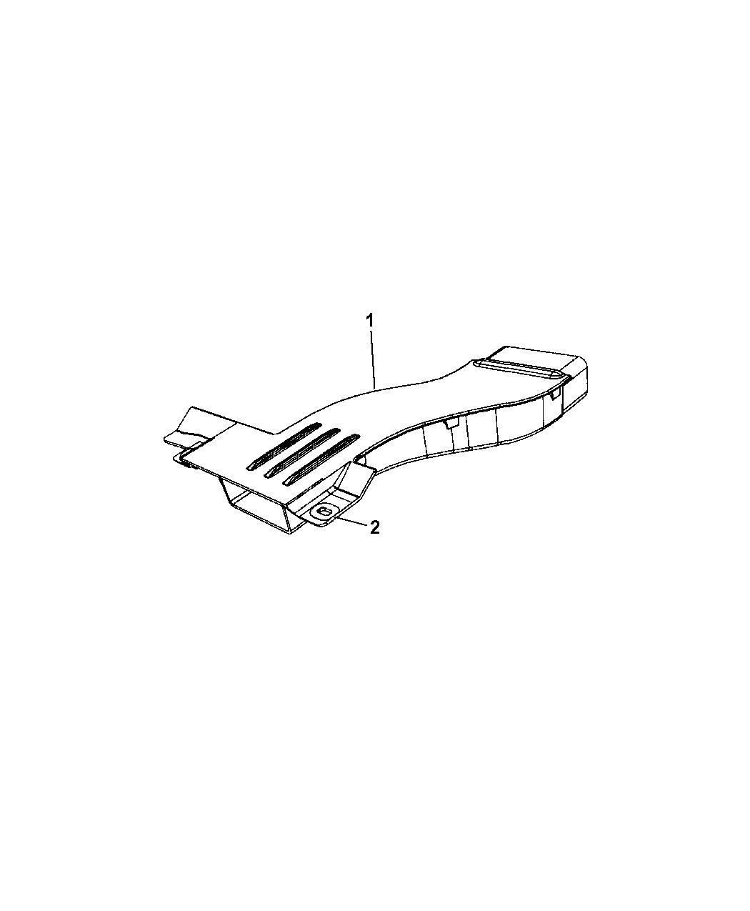 4891630AB - Genuine Mopar DUCT-FRESH AIR