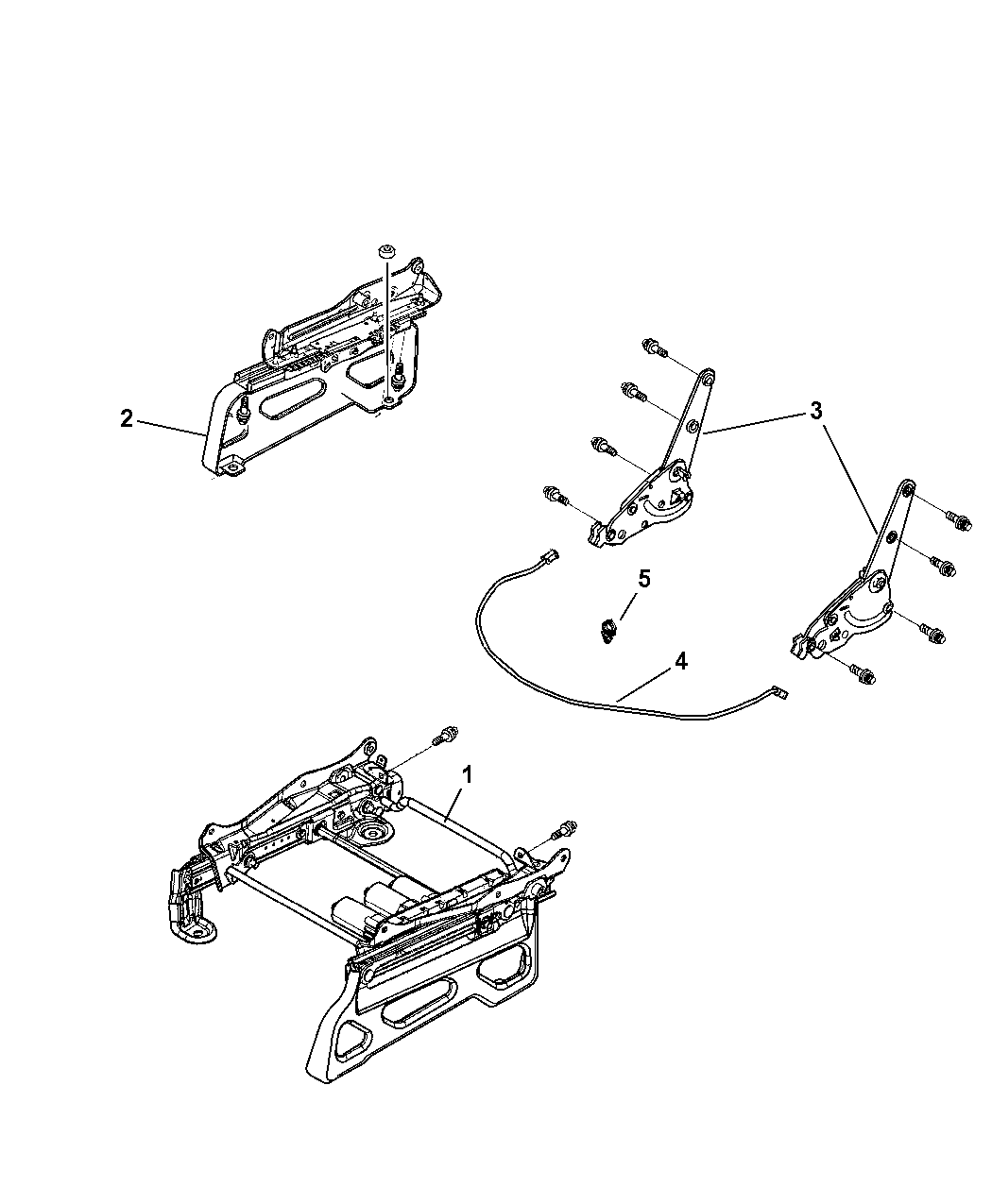 2009 Dodge Nitro Risers Miscellaneous Front Seat Attachments Engine Diagram