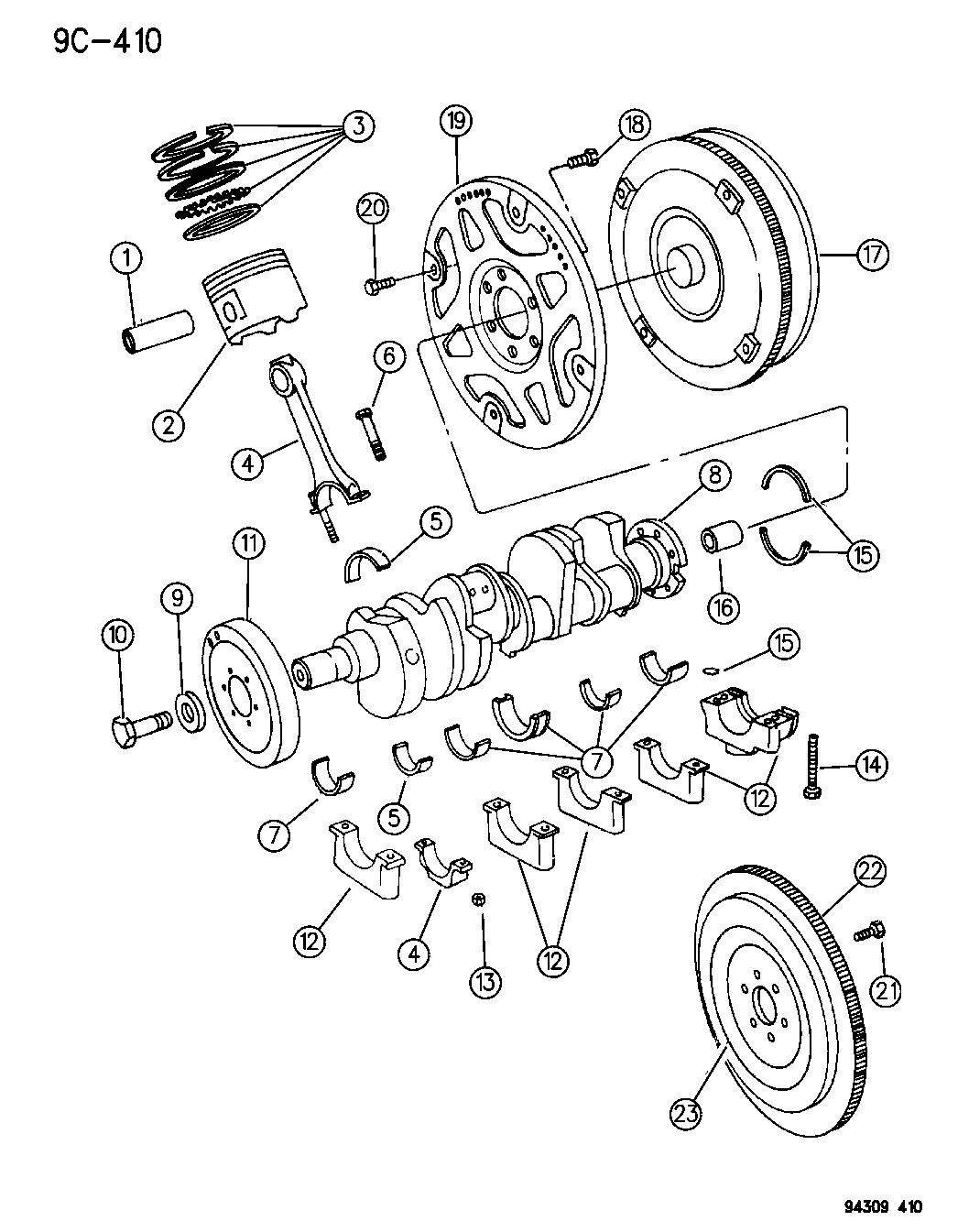 1995 Dodge Ram 3500 Crankshaft, Piston & Flywheel & Torque