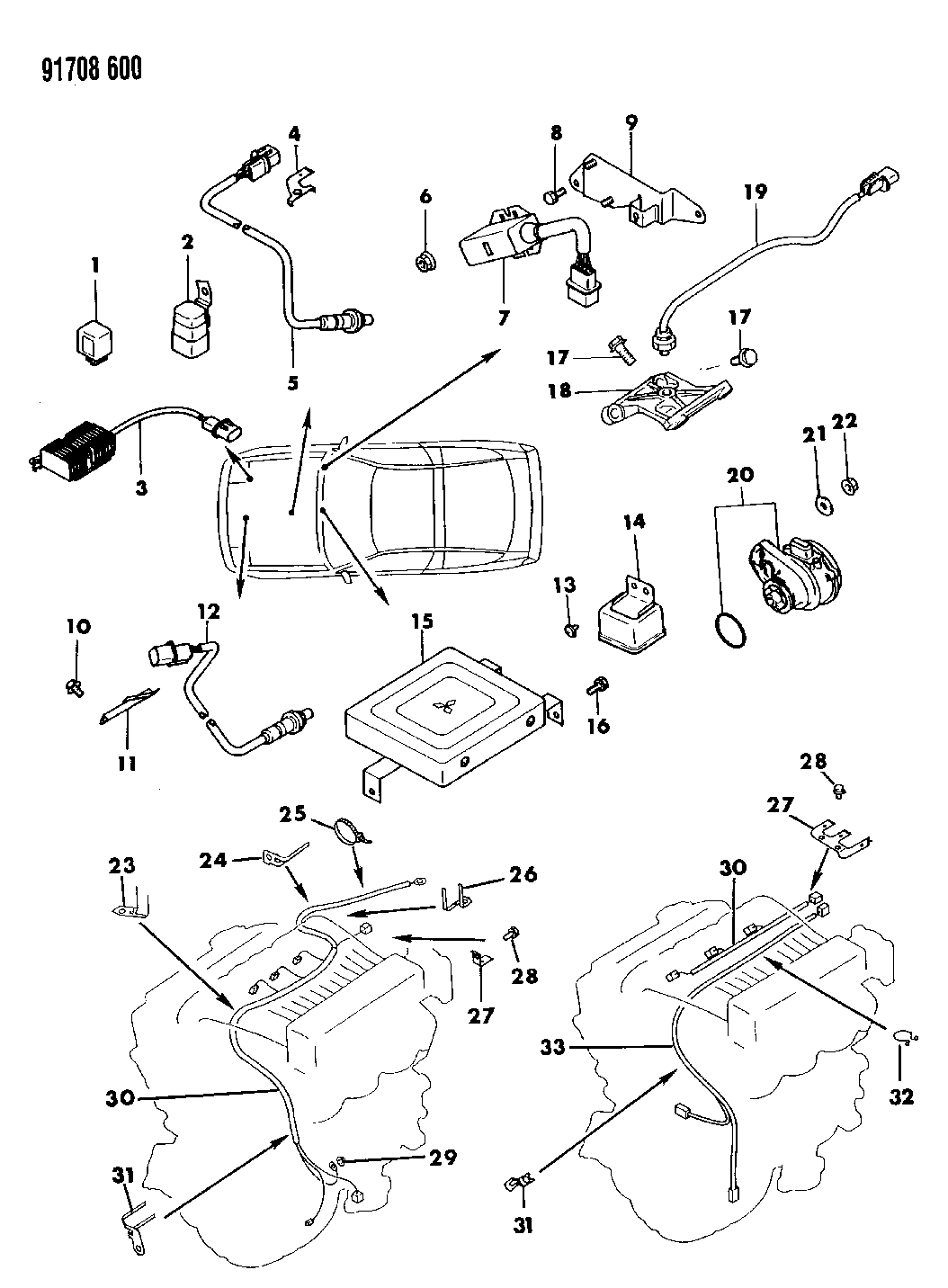 1991 Dodge Stealth Switches Electrical Controls Wiring Diagram Thumbnail 1