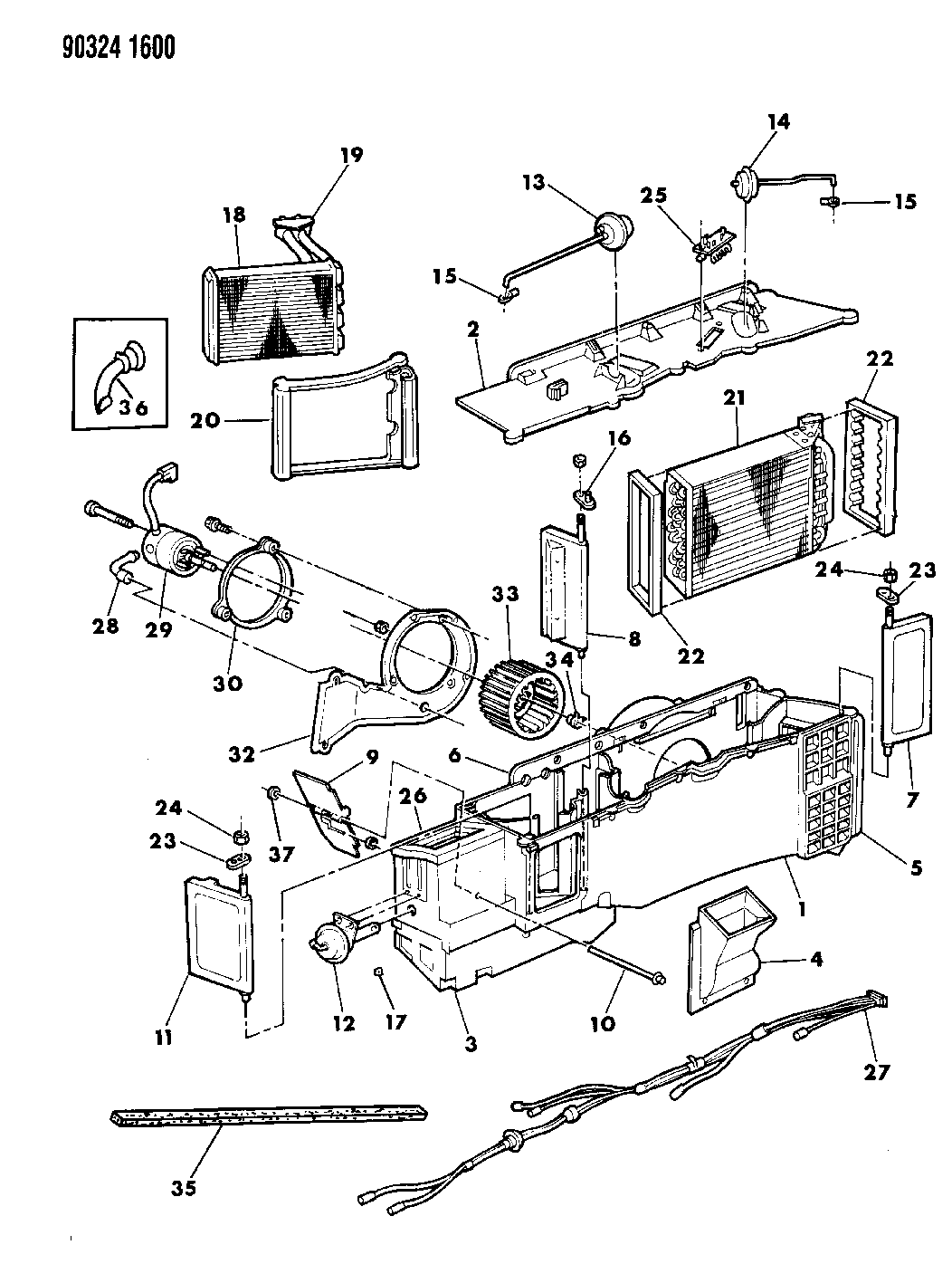 1990 Dodge W150 Air Conditioner & Heater Unit - Mopar ...