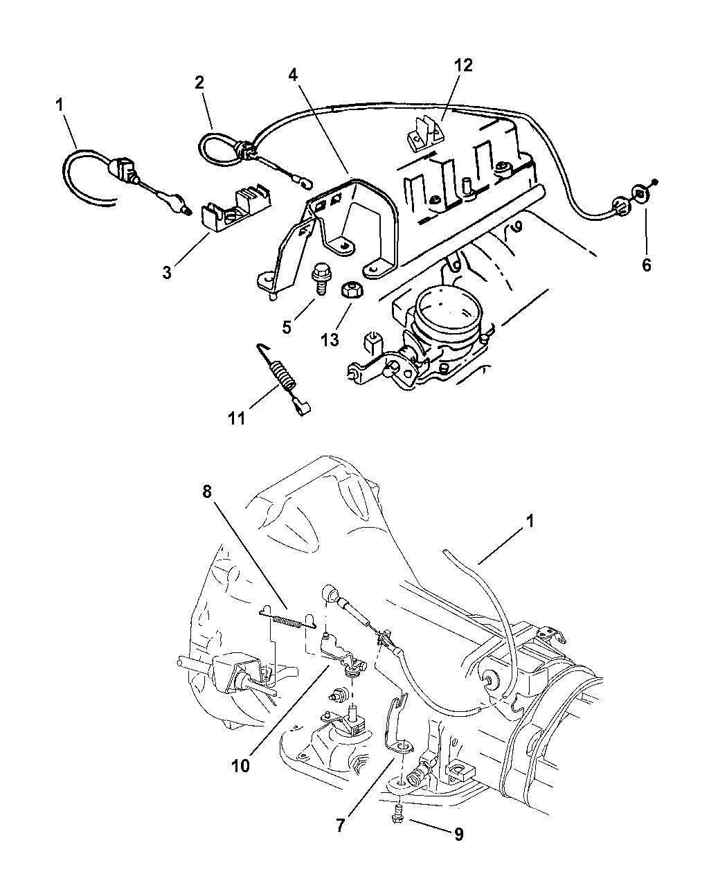4854137  Genuine Mopar CABLEACCELERATOR