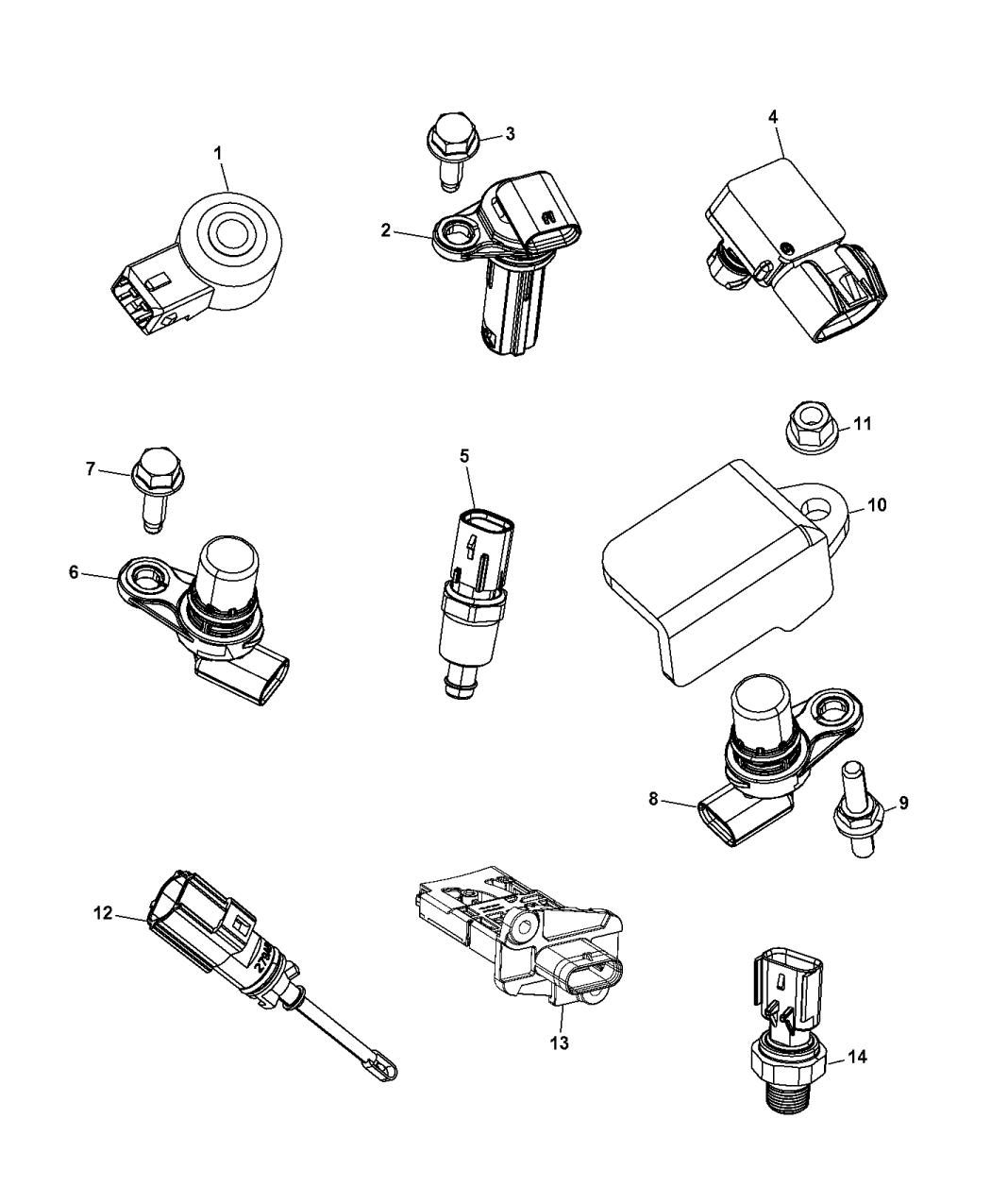 68080819ac Genuine Mopar Sensor Camshaft