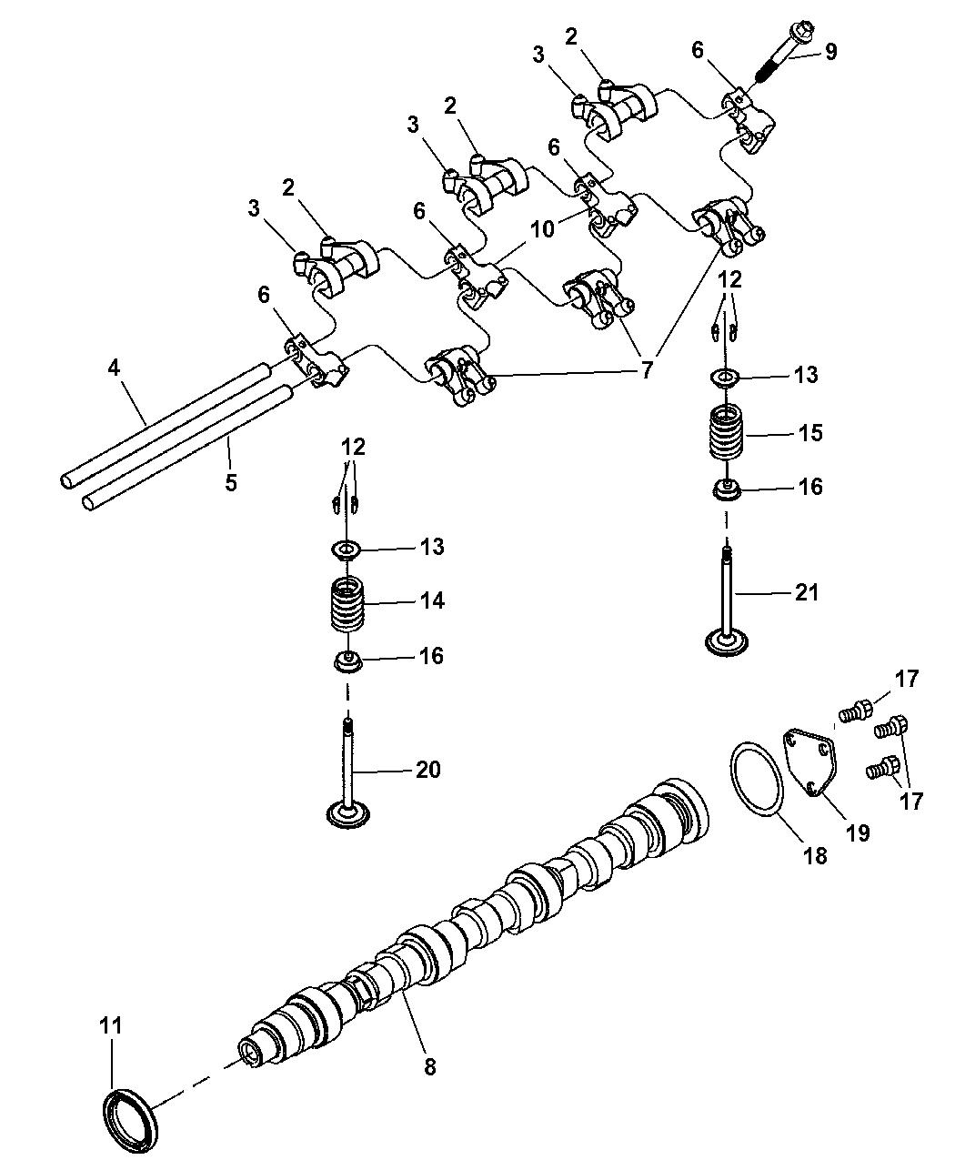 Genuine Chrysler CAMSHAFT-ENGINE