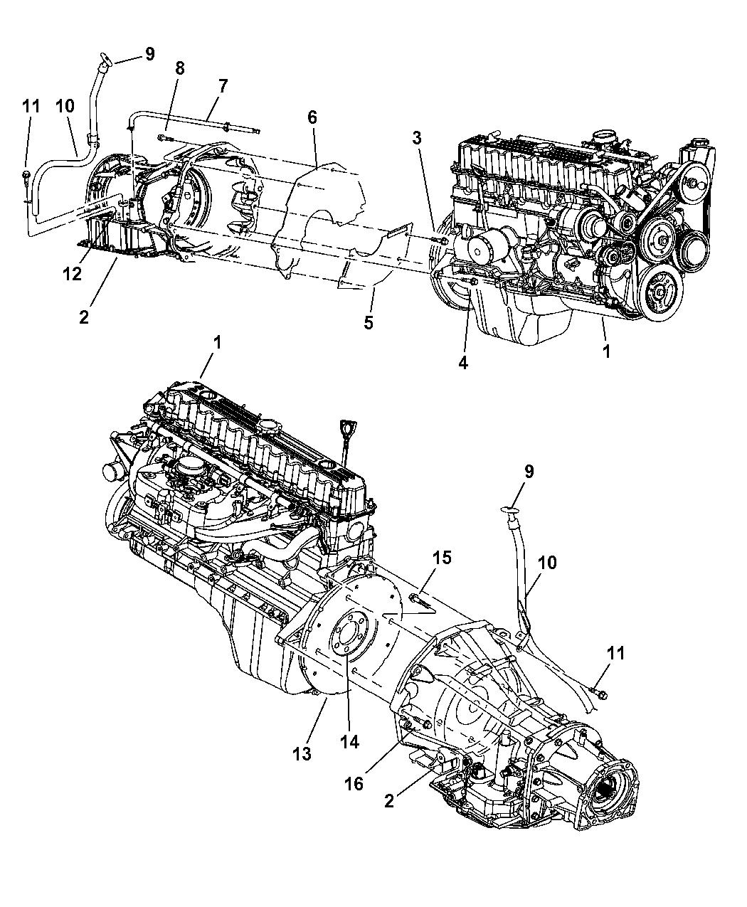 2006 Jeep Wrangler Transmission Mounting Oil Fill Tube