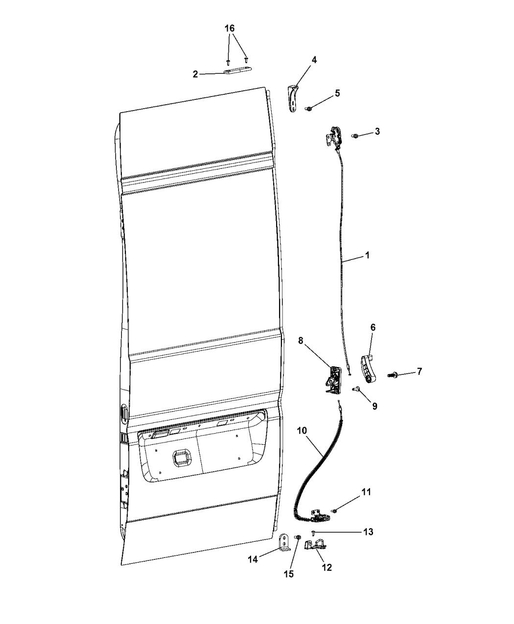 2014 Ram Promaster 1500 Cargo Transmission: Genuine Mopar LATCH-CARGO DOOR