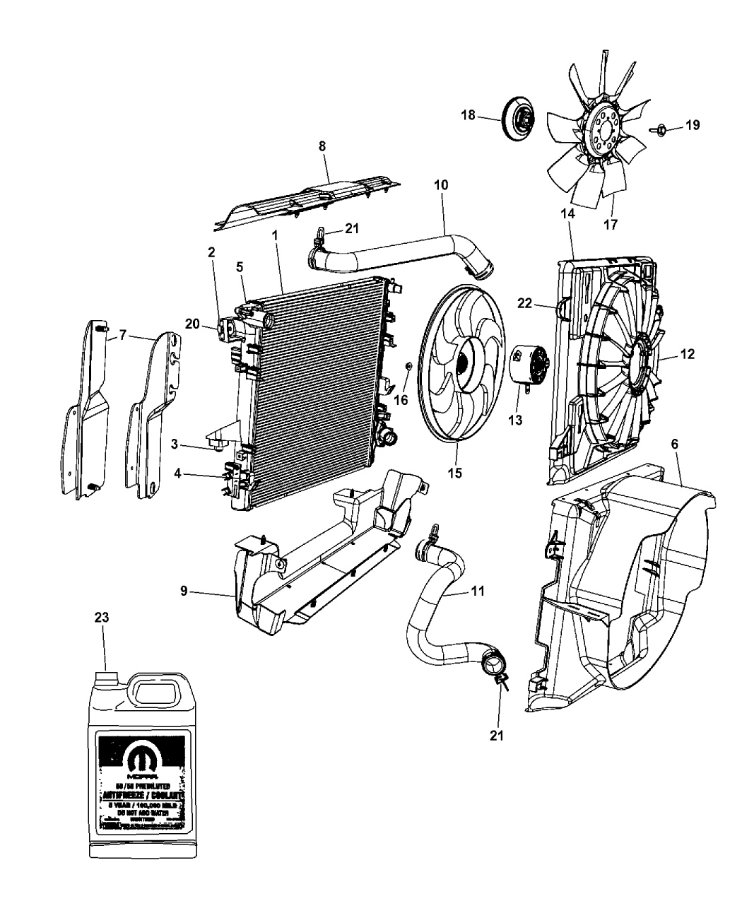 55056732AB - Genuine Mopar SEAL-RADIATOR