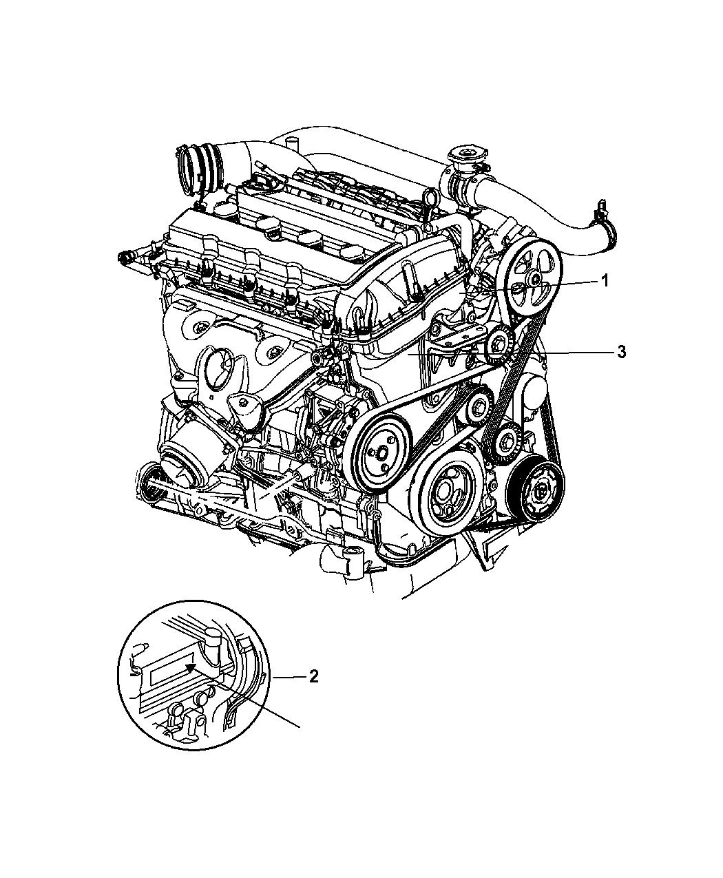 4893190ca genuine mopar engine long block rh moparpartsgiant com