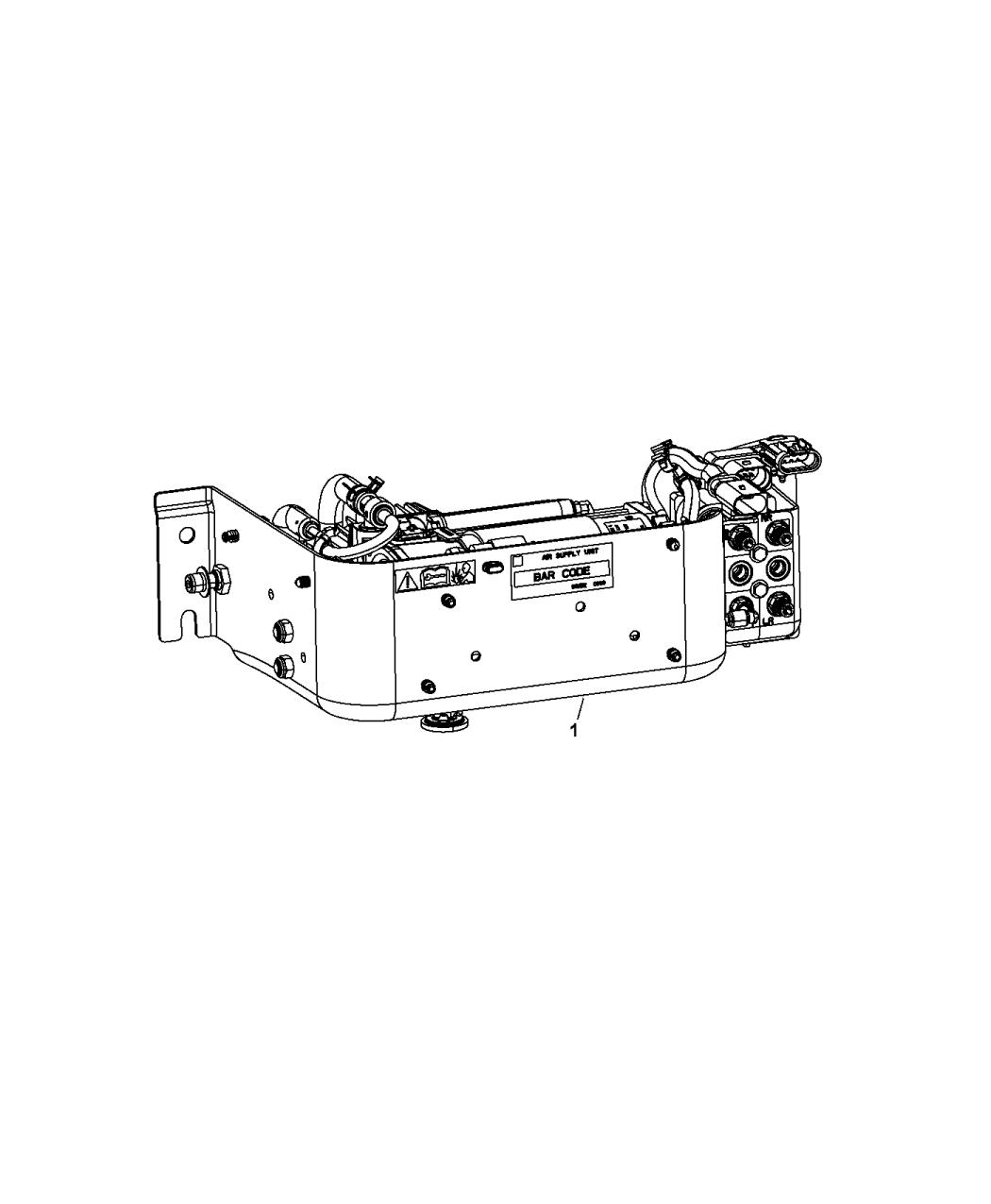2016 Ram 3500 Pickup Air Suspension Compressor Assembly