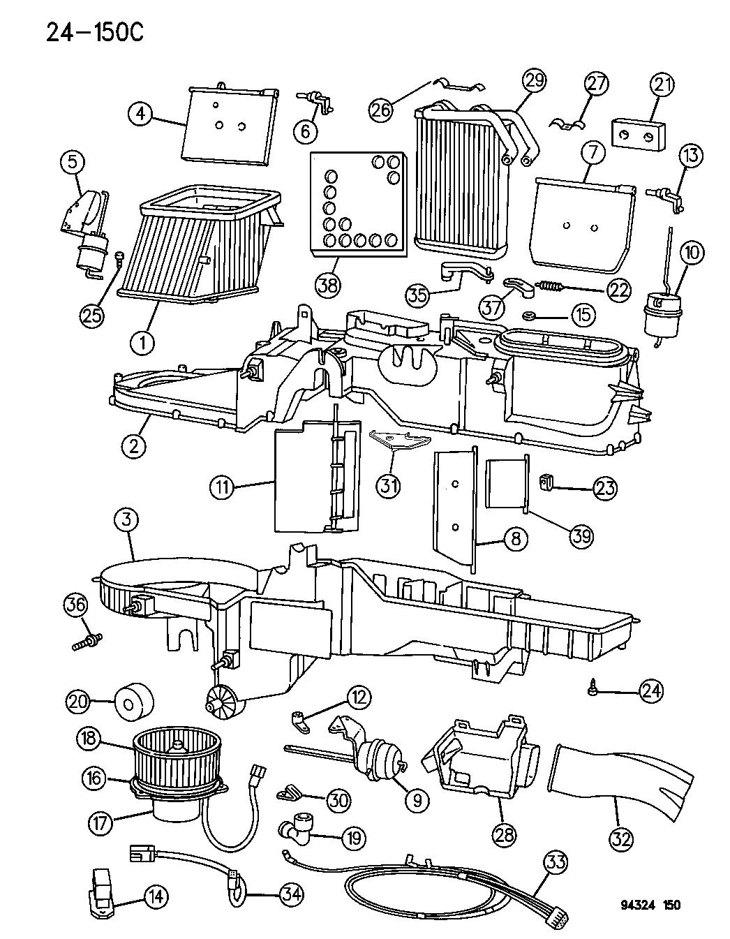 1994 dodge ram 1500 heater unit