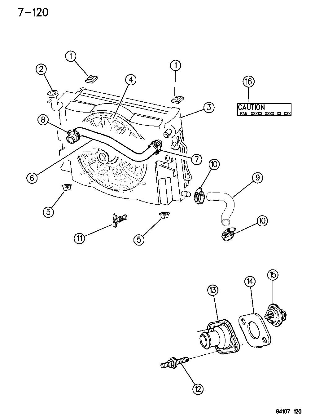 1995 Dodge Caravan Radiator & Related Parts - Mopar Parts Giant