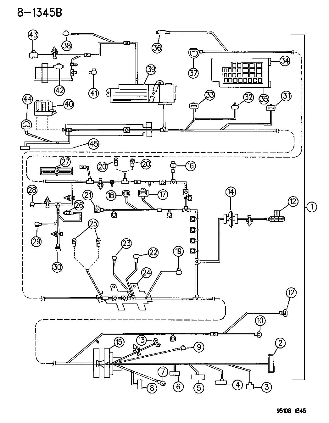 1995 chrysler cirrus wiring headlamp to dash