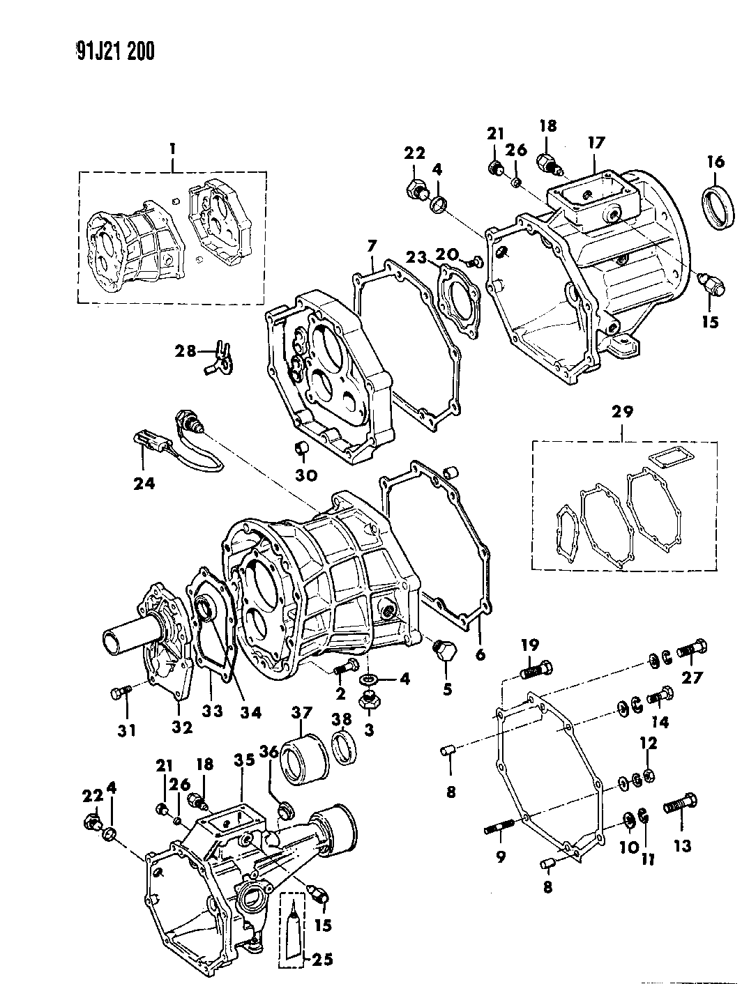 1991 Jeep Wrangler Case Extension Miscellaneous Parts Engine Diagram Thumbnail 1