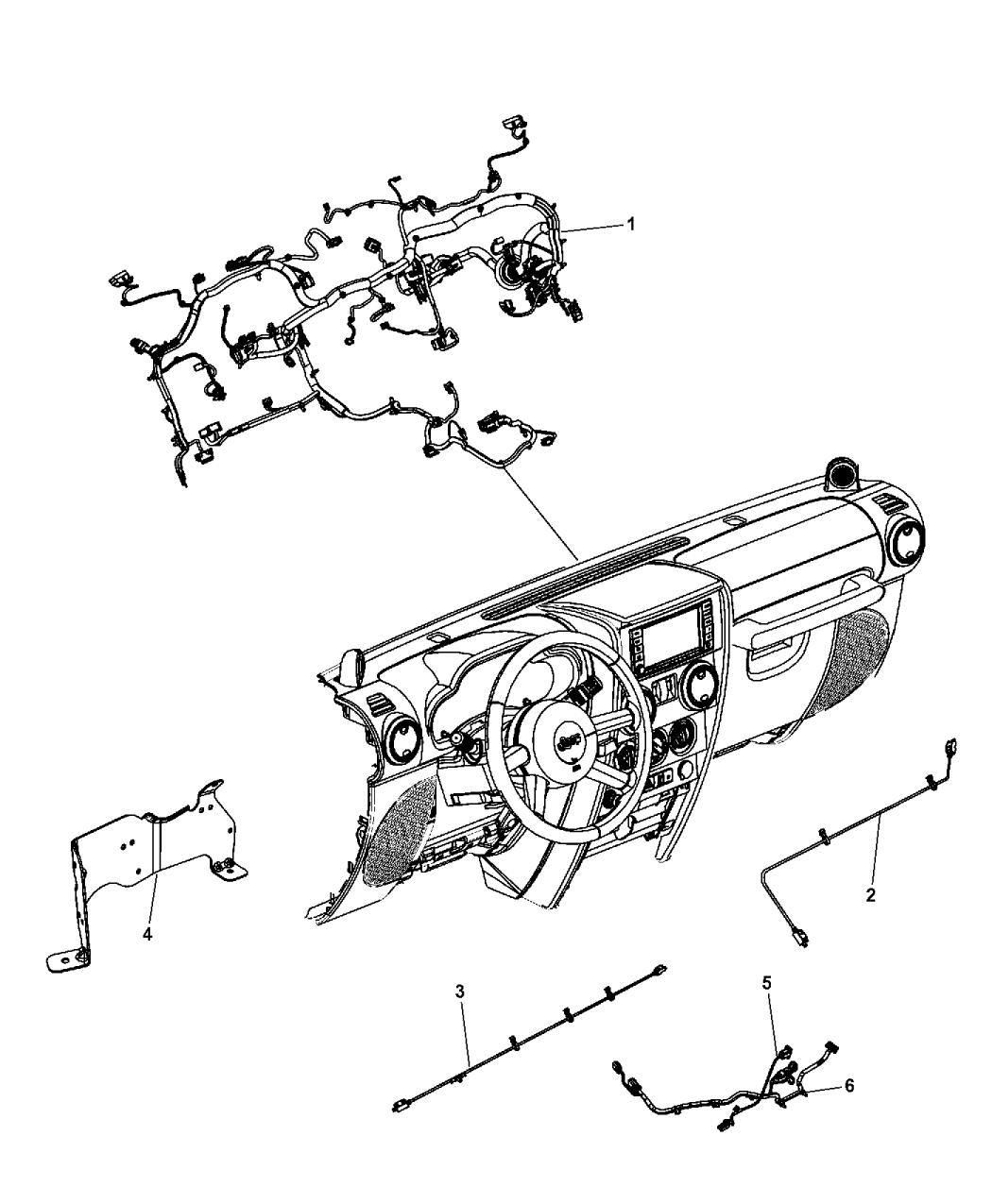 2011 jeep wrangler wiring instrument panel