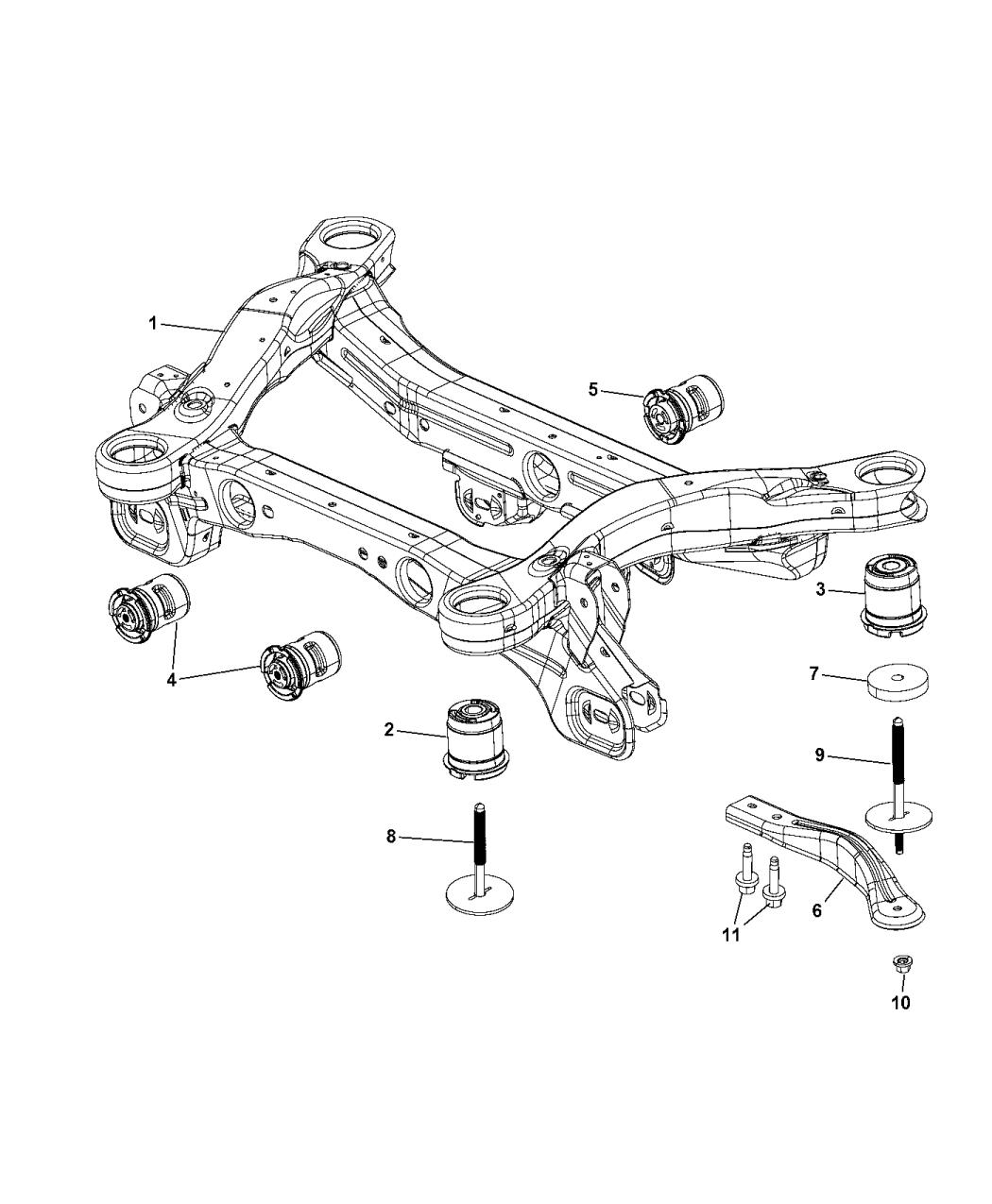 2015 jeep cherokee cradle, rear suspension