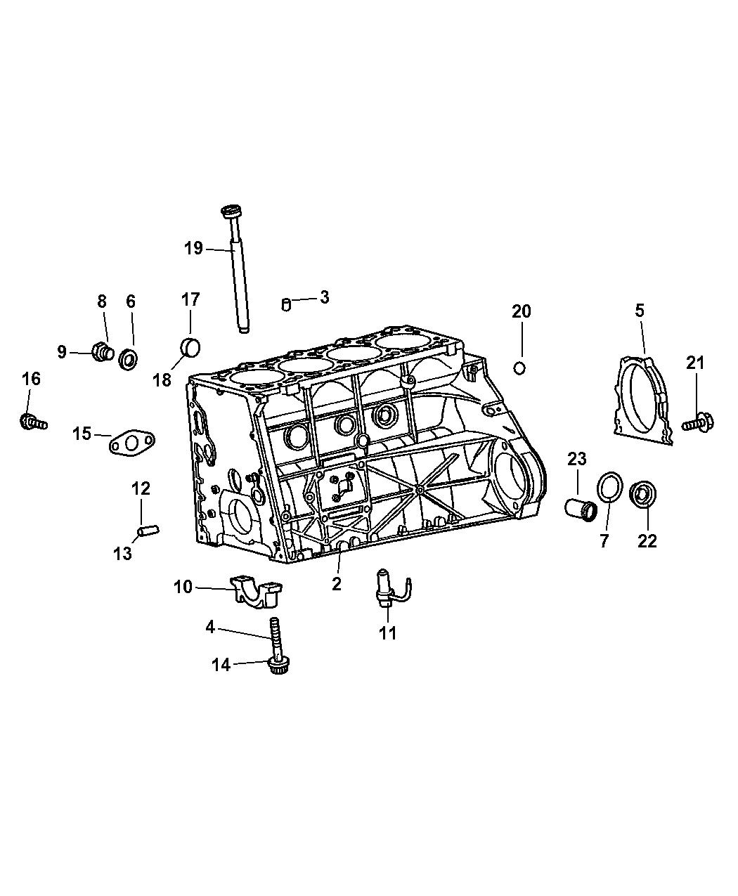 5073861aa Genuine Chrysler Connector 2009 Pt Cruiser Engine Diagram Cylinder Block Hardware