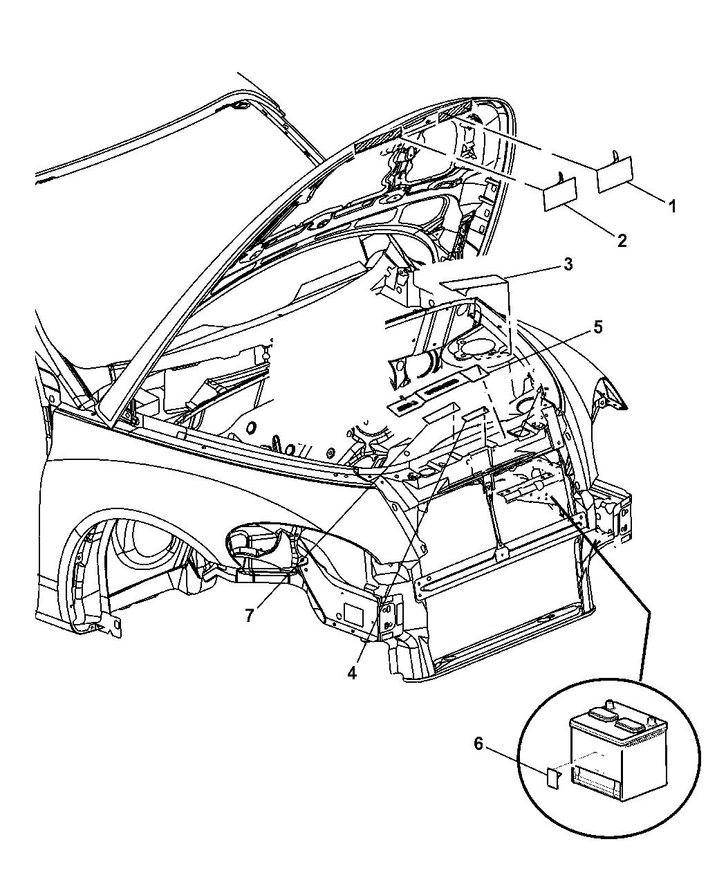 2004 Chrysler PT Cruiser Engine Compartment