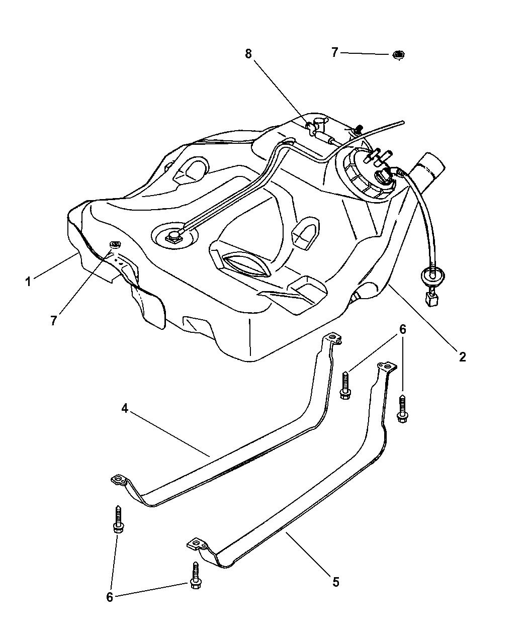 Genuine Chrysler STRAP-FUEL TANK