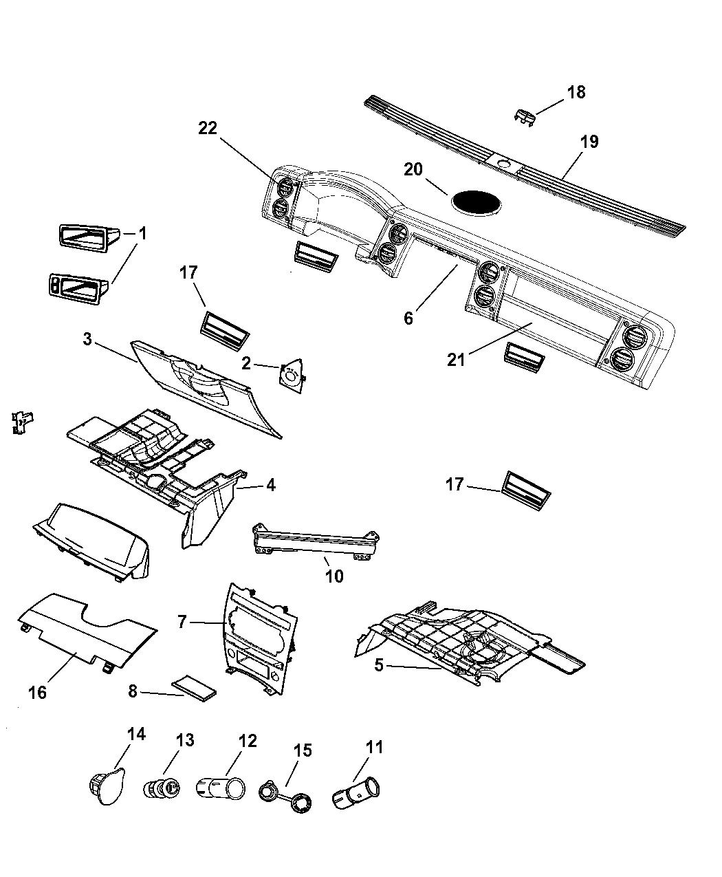 5jn32zj8ad Genuine Jeep Plug Instrument Panel