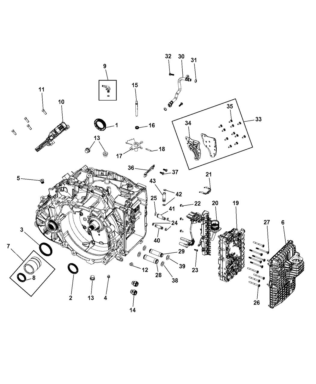 2015 jeep renegade transmission serviceable parts