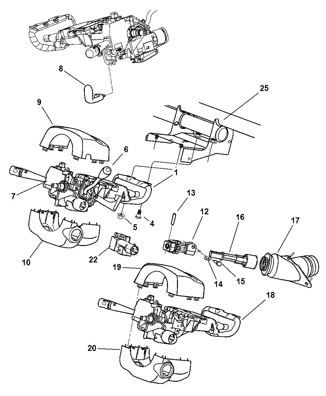 [SCHEMATICS_48ZD]  2002 Dodge Intrepid Column, Steering - Mopar Parts Giant | Dodge Intrepid Steering Column Wiring |  | Mopar Parts Giant
