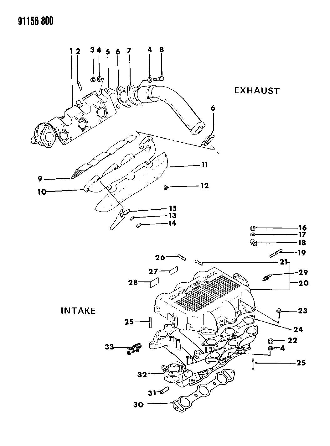 1991 Dodge Spirit Manifolds - Intake & Exhaust - Thumbnail 1