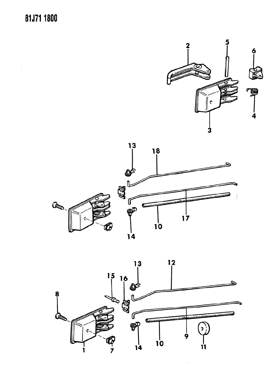 1986 Jeep Comanche Door  Handles  U0026 Controls