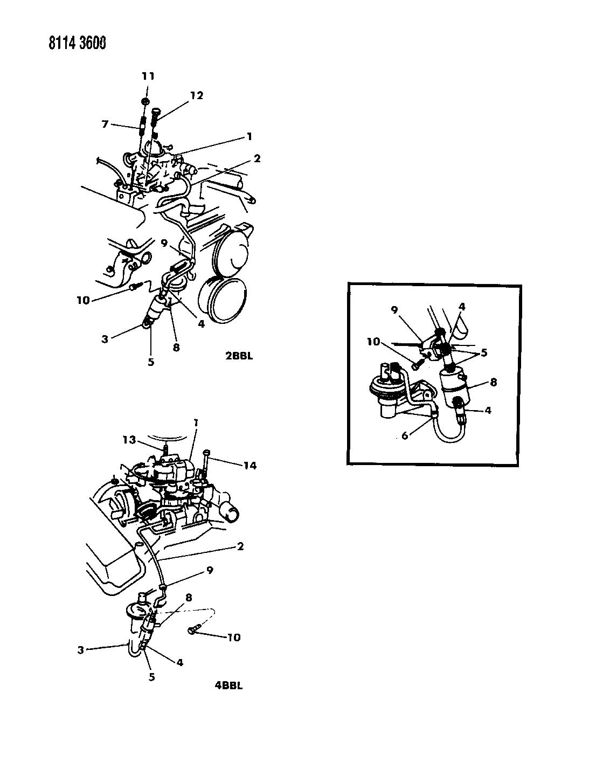 1988 Chrysler New Yorker Base Model Carburetor Fuel Filter Related A Parts