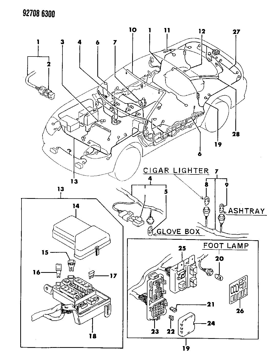 1993 dodge stealth wiring harness mopar parts giant  ac alternator power steering idler