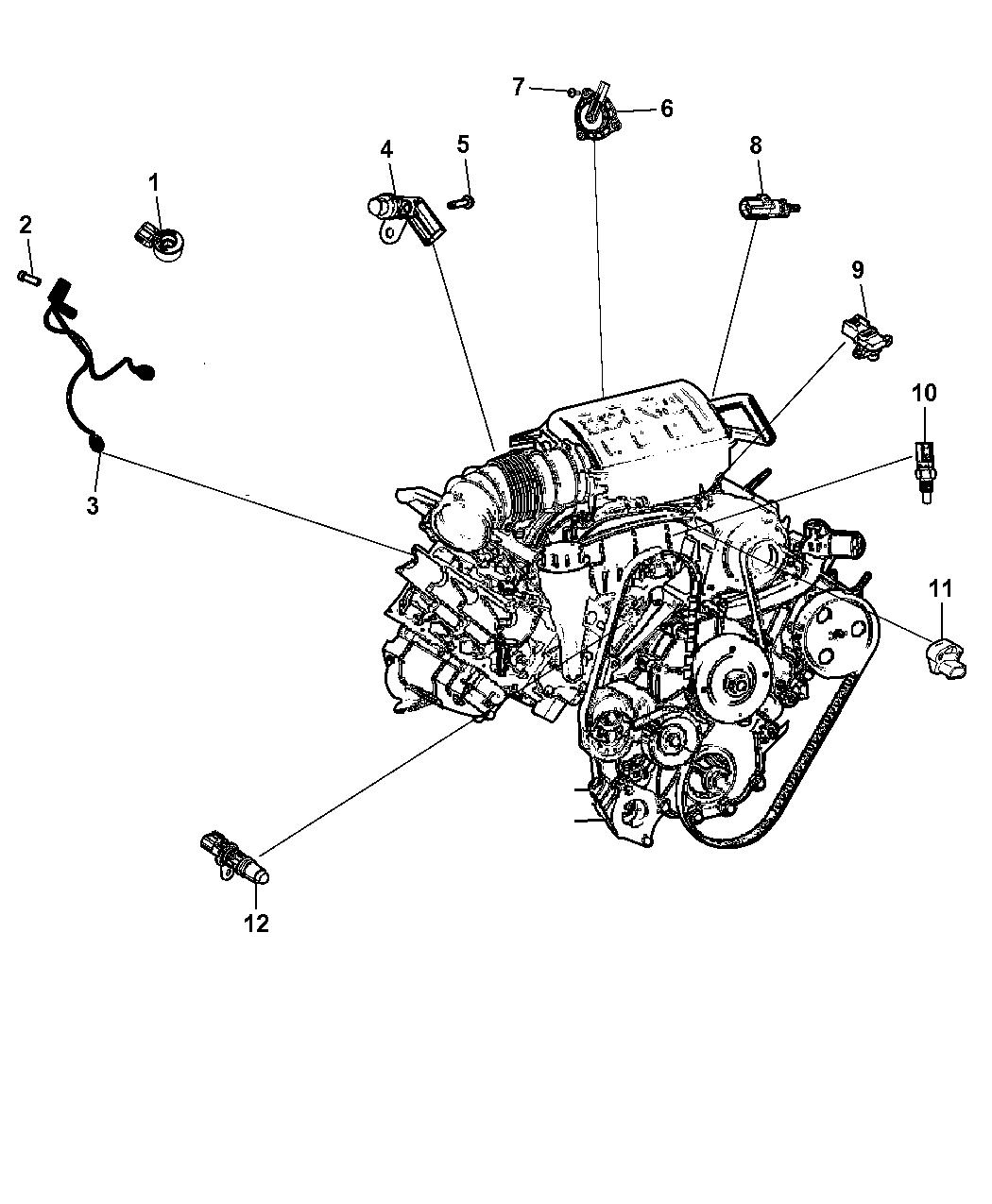 2013 Dodge Challenger Sensors - Engine - Thumbnail 1
