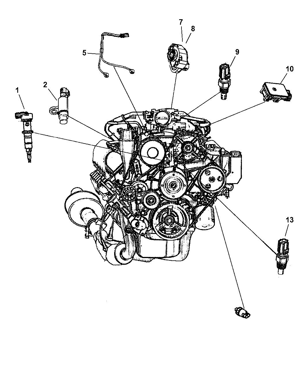 56028373ab Genuine Dodge Sensor Crankshaft Position Together With Location On Ram 2004 3500 Sensors Engine Gas