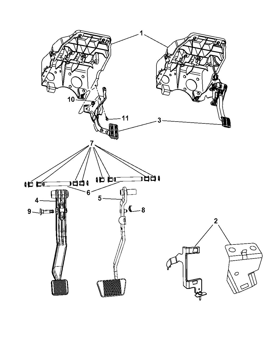 Chrysler Genuine 52014128AB Brake Pedal