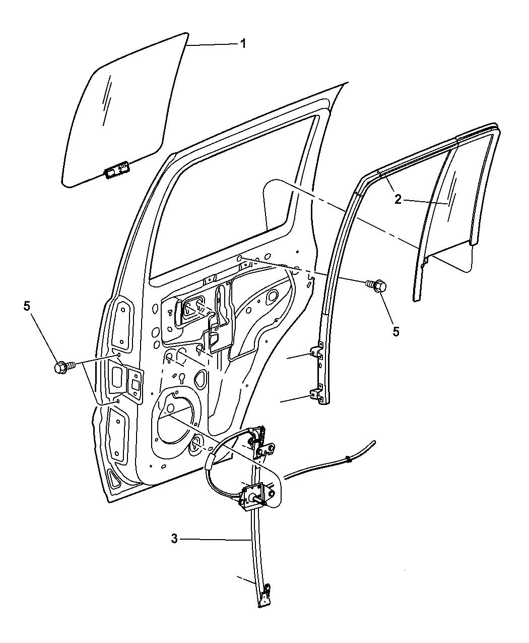 02-07 Jeep Liberty Power Window Regulator Left Rear Mopar Oem Revised Parts New